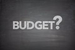 Budget på svart tavla Royaltyfria Foton
