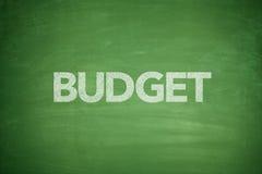 Budget på svart tavla Fotografering för Bildbyråer