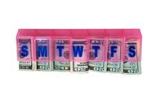 budget- pengar Royaltyfria Bilder