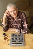 budget- pensionär Royaltyfria Bilder