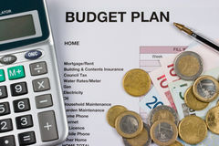 Budget plan. Working out a Home budget Plan Stock Photography