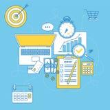 Budget- planläggningsillustration Arkivbilder