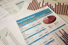 Budget planning. Business budget planning chart report Stock Images