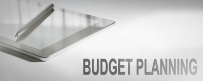 BUDGET PLANNING Business Concept Digital Technology. Graphic Concept royalty free stock photography