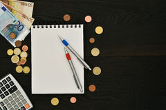 Budget planning concept background Stock Images
