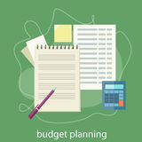 Budget planning concept. Financial accounting stock market analysis. Budget planning concept Stock Image