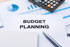 Budget planning with financial chart Royalty Free Stock Photos