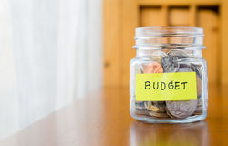 Budget planning and saving money Stock Image