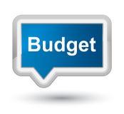 Budget prime blue banner button Stock Photos