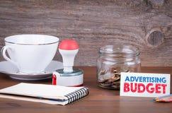 Budget pubblicitario - affare, concetto finanziario Soldi nel g Immagine Stock Libera da Diritti