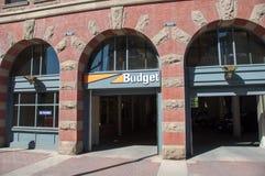 Budget Rental Car agency Stock Image