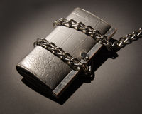 Budget Restriction. A chained wallet concept illustration of budget restrictions Royalty Free Stock Photography