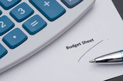Budget Sheet Stock Images