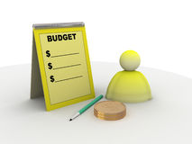 Budget sign Royalty Free Stock Image