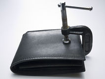 Budget Squeeze - Wallet Concept Stock Photos