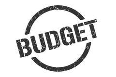 Budget- stämpel royaltyfri illustrationer