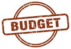 Budget- st?mpel royaltyfri illustrationer
