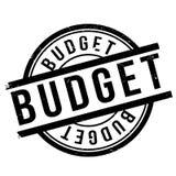 Budget stamp rubber grunge Stock Photos