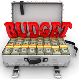Budget. Suitcase full of money Royalty Free Stock Photos
