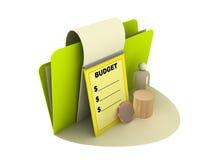 budget- symbol Arkivfoton