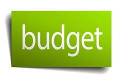 Budget- tecken vektor illustrationer