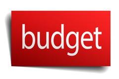 Budget- tecken stock illustrationer