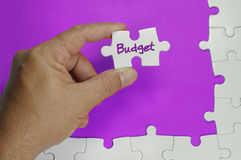 Budget Text - Business Concept Royalty Free Stock Image