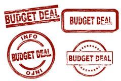 Budget- uppsättning för avtalsfärgpulverstämpel Arkivbild