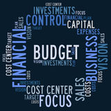 Budget word cloud Royalty Free Stock Photos