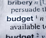 Budget word Stock Photos