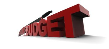 Budget word Royalty Free Stock Image