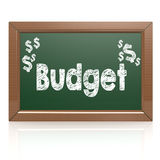 Budget word written on chalkboard. Image with hi-res rendered artwork that could be used for any graphic design Royalty Free Stock Image