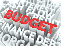 Budget. The Wordcloud Concept. Royalty Free Stock Photography