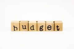 Budget wording isolate on white background Royalty Free Stock Photo