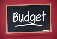 Budget written on a blackboard Royalty Free Stock Photos