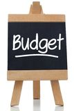 Budget written on blackboard Royalty Free Stock Photo