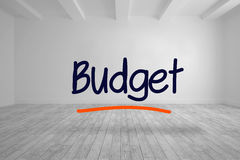 Budget written in bright room Stock Images