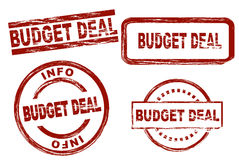 Budgetabkommentinten-Stempelsatz stockfotografie