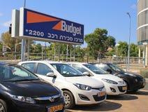Budgetautomiete in Hertzlija, Israel Lizenzfreie Stockfotografie