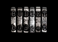 budgeter arkivfoton