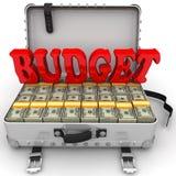 budgeter full pengarresväska vektor illustrationer