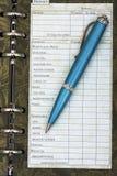 budgetera personligt ditt för finanser Royaltyfri Foto