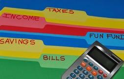 budgetera uppgift arkivbild