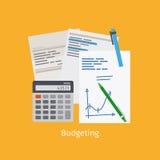 Budgeting cartoon style illustration Royalty Free Stock Photos