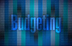 Budgeting message illustration design Royalty Free Stock Image