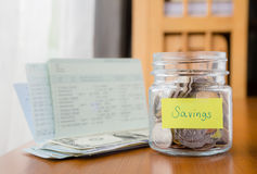 Budgeting, savings and money planning Royalty Free Stock Photos