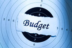 Budgetkonzept Stockfotos