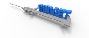 Budgetmaß Stockfoto