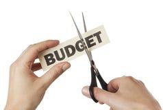 budgetnedskärning Arkivfoton