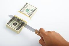 budgetnedskärning Fotografering för Bildbyråer